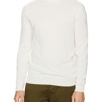Wall + Water Men's Cashmere Turtleneck Sweater - White -
