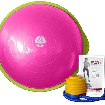 Bosu Ball SPORT 50CM Balance Trainer Exercise Gym Workout w/ Pump - Pink