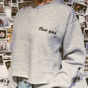 NANCY NEW YORK EMBROIDERY SWEATSHIRT