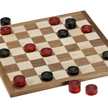 Classic Checkers Set,- Red/Black, Indoor Games