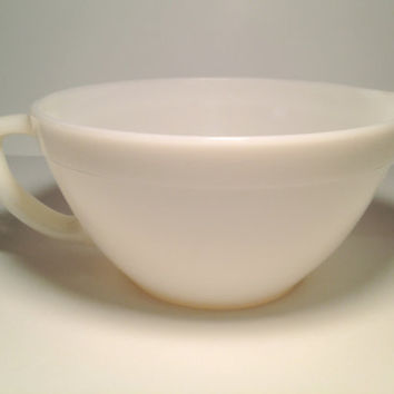 Vintage Fire King White Mixing Bowl/Pitcher by ModernFiction