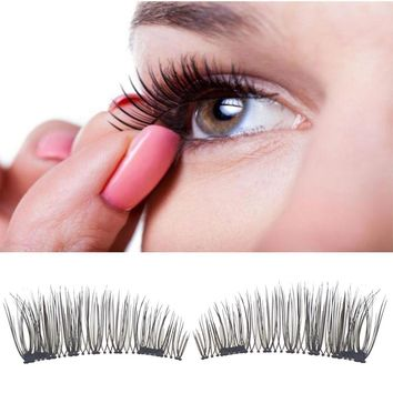 Classic 3D Magnetic False Eyelashes Extension Tools Natural Makeup