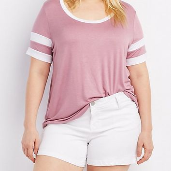 Plus Size Ringer Football Tee