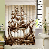 Sea Animal Shower Curtain Octupus Design 3D Print Fabric Waterproof Bathroom Curtain Washable For Kids Bath Gift 180Cm Long Dorp