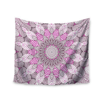 "Monika Strigel ""Dots and Stripes Pink"" Wall Tapestry"