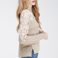 Crochet Paneled Sweater