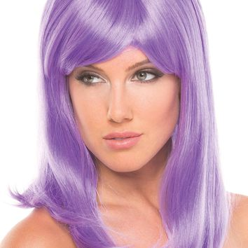 BW094LV Hollywood Wig Lavender - Be Wicked