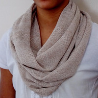 Knit Fabric Infinity Scarf. Adult Size Infinity Scarf.