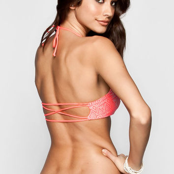 Rip Curl Shadow Reversible Bikini Top Coral  In Sizes