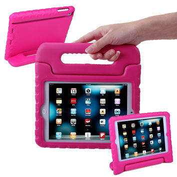 HDE iPad Mini Kids Case Shockproof Handle Stand Cover for Apple iPad Mini 2/3 Retina (Hot Pink) - Walmart.com
