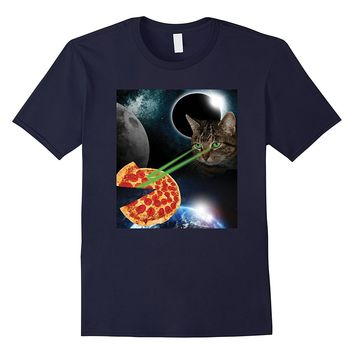 Laser Pizza Cat in Space Shirt - Funny Cat in space Tshirt