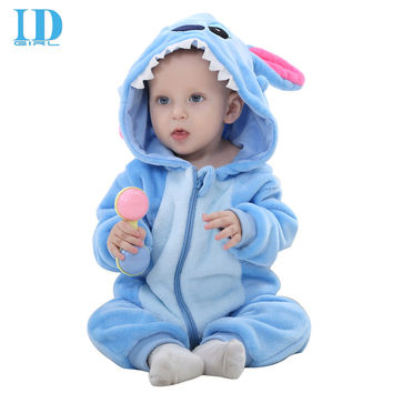 IDGIRL Baby Winter Rompers Newborn Cartoon Flannel Baby Boy Animal Onesuit Jumpsuit Baby Girl Rompers Baby Clothing Pink MX1211