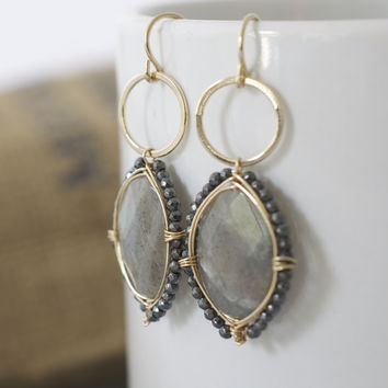 Janice Stevenson Jewelry — Large Labradorite Earrings