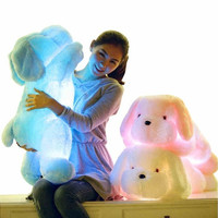 50CM Creative toy Cute Inductive dog nightlight plush toy LED glow pillow soft light up stuff toy dog pet quality [9302850762]