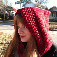 Red Riding Hooded Cowl Women Sexy St. Patrick's Gift
