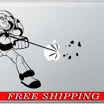 Macbook Decal Buzz Lightyear Mac Decal Macbook Pro Sticker Laptop Accessory