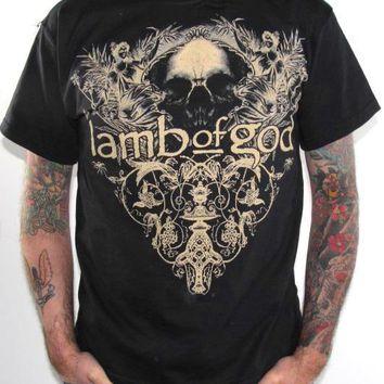 Lamb Of God T-Shirt - Skull Reflection