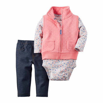 Carter's 3-pc. Pant Set Baby Girls - JCPenney