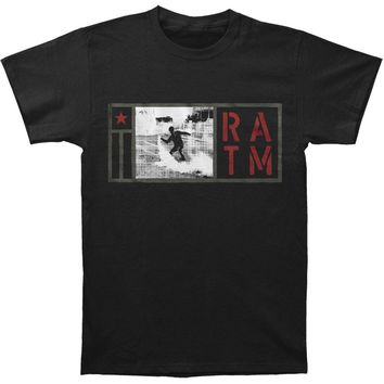 Rage Against The Machine Men's  Smoke Grenade Slim Fit T-shirt Black Rockabilia