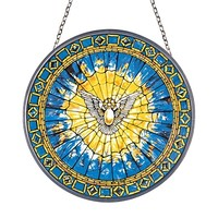 SheilaShrubs.com: The Holy Spirit Replica Stained Glass Window GM1013 by Design Toscano: Stained Glass