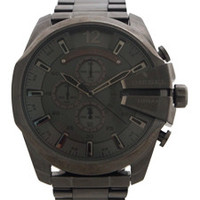 DZ4282 Chronograph Gunmetal Ion Plated Stainless Steel Bracelet Watch  by Diesel (Men)