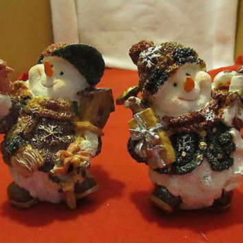 A Really Cute Snow Couple Figurines