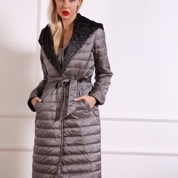 azzimia 2016 new winter dress reversible clothing fashion women's hooded down feather coat outwear parkas good quality Hot Sale