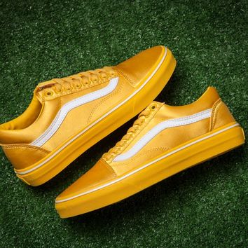 LMFON Vans Satin Old Skool AB19 Silk Low Tops Flats Shoes Canvas Sneakers Sport Shoes
