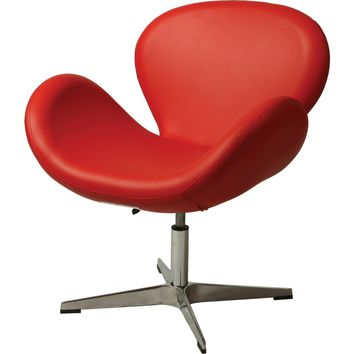 Le Parque Club Chair Red Leatherette
