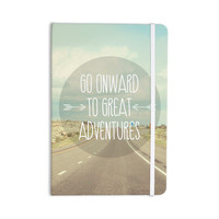 "Jillian Audrey ""Go Onward to Great Adventures"" Typography Everything Notebook"