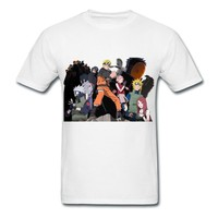 Make Your Own Naruto Road To White Adult Standard Weight T-shirt For Men Supply-Funny Clothing |HICustom