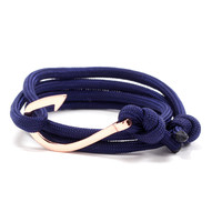 Copper Hook on Navy Rope