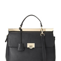 FOREVER 21 Convertible Faux Leather Satchel
