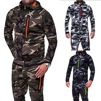 CALOFE 2018 New Camouflage Running Jacket Men Plus Size Camo Hooded Coats Army Military Sports Jacket Men Streetwear Outerwear
