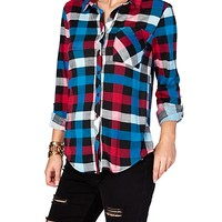Boyfriend Plaid Pocket Shirt