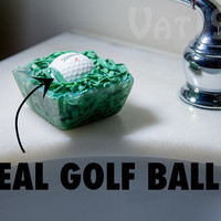 In the Rough Golf Ball Soap includes a real golf ball