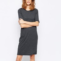 Noisy May Jersey Dress With Striped Arm Hole Detail