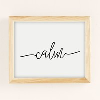 Sisi And Seb Calm Art Print | Urban Outfitters