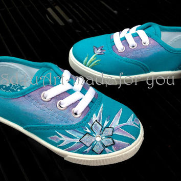 Painted Girl Shoes- Inspired by Disney Movie, Frozen