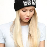 NATIVES EMBROIDERY BEANIE