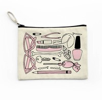 Girly Things Canvas Pouch
