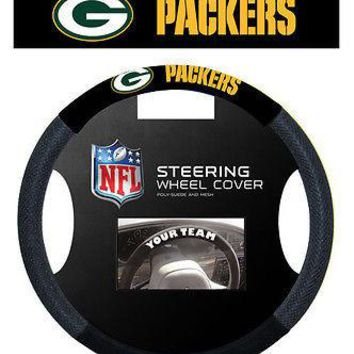 Green Bay Packers Poly-Suede and Mesh Steering Wheel Cover
