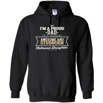 Men's Proud Dad of an awesome tattooed daughter funny t-shirt