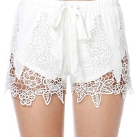 Spring Fever Crochet Lace Shorts