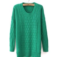 *Free Shipping* Green Women One Size Sweater TBHTK1205 from MaxNina