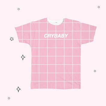 crybaby grid Tee from Kokopie