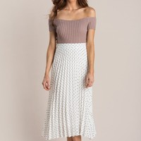 Cynthia Ribbed Off the Shoulder Top