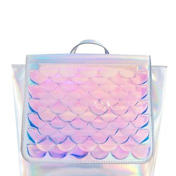 Bianca Mermaid Scale Holographic Backpack by Skinny Dip London - LAST ONE!