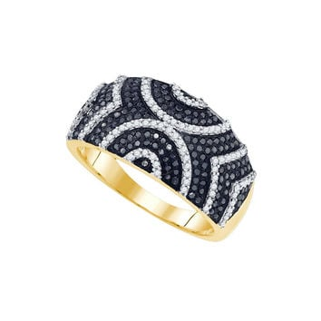 5-8Carat-Diamond MICRO-PAVE BLACK RING