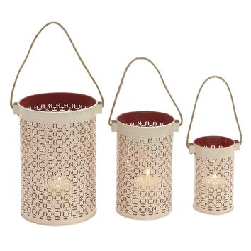 Stunning metal lantern set of 3 pcs